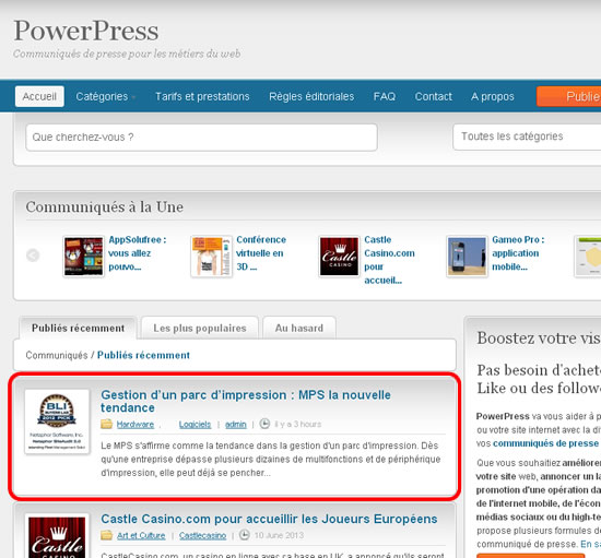 Remonter PowerPress