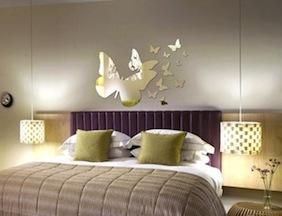 les nouveaux stickers miroir pour d corer murs. Black Bedroom Furniture Sets. Home Design Ideas