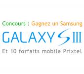 Concours : Gagnez un Samsung Galaxy S3