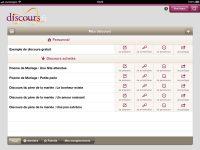 Application Discours.fr pour iPad – construire et prononcer vos discours