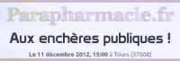 Parapharmacie.fr aux enchères publiques volontaire le 11 Décembre 2012 !