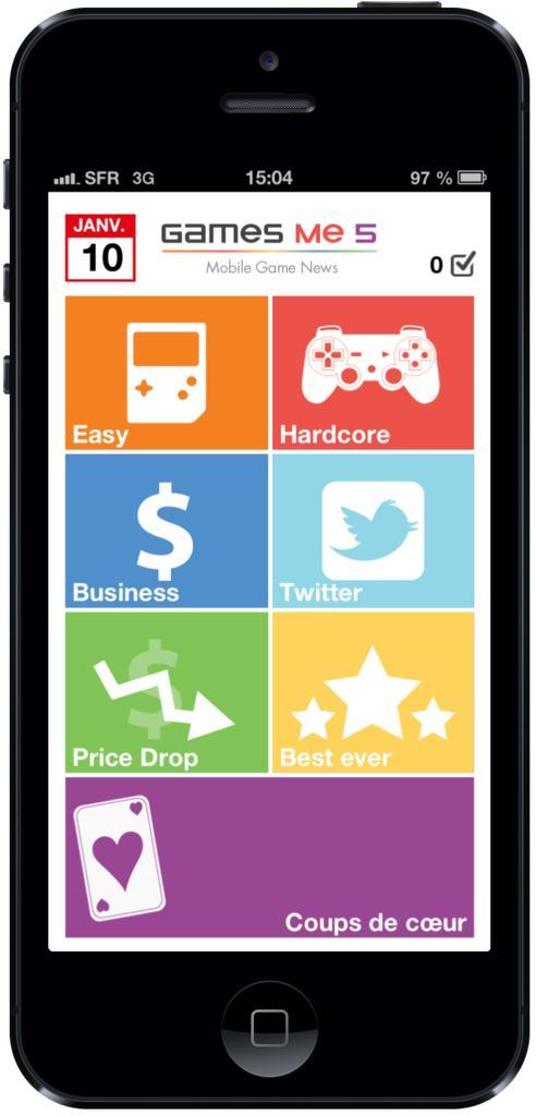 suivez toute l actualit du mobile gaming avec l application games me 5. Black Bedroom Furniture Sets. Home Design Ideas