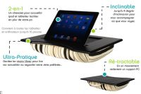 PadTopper – Support iPad/tablette pour canapé et lit – Made in France