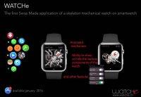 La première application Swiss Made d'une montre mécanique squelette sur une montre connectée